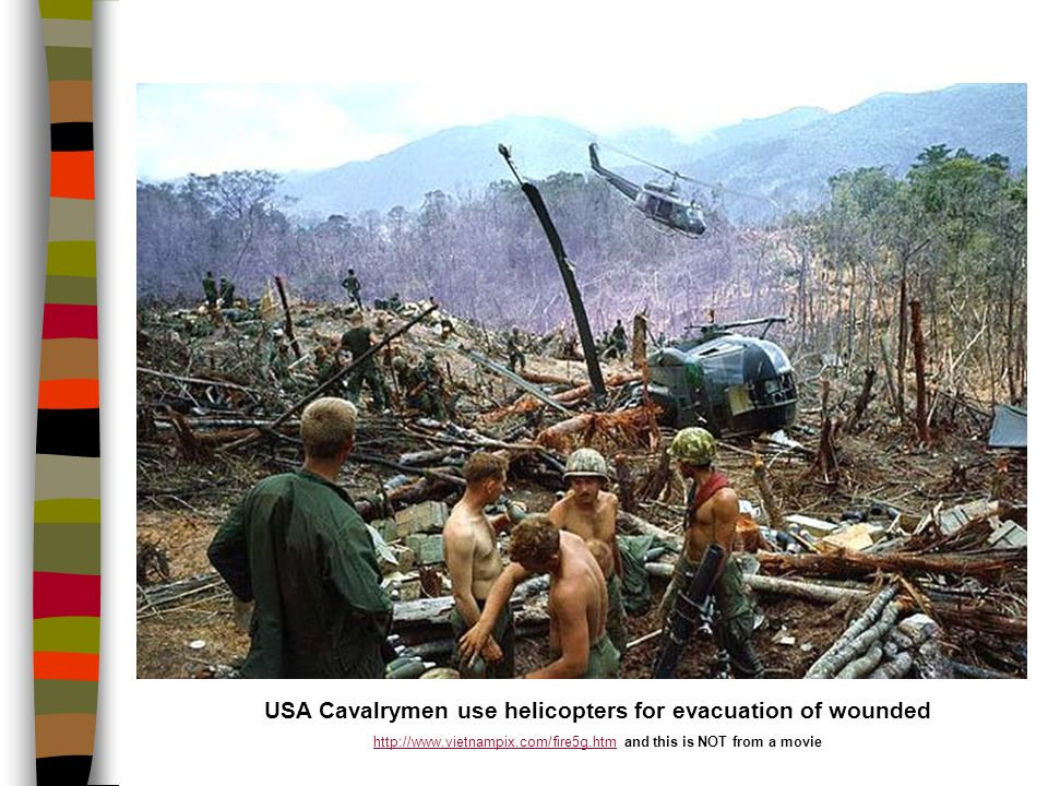 USA Cavalrymen use helicopters for evacuation of wounded   and this is NOT from a movie