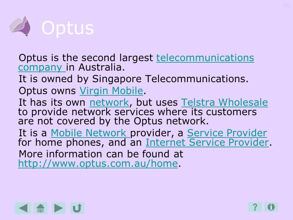 45 O-R Optus Optus DEP Overseas Palmtop Phone Post paid POTS Prepaid