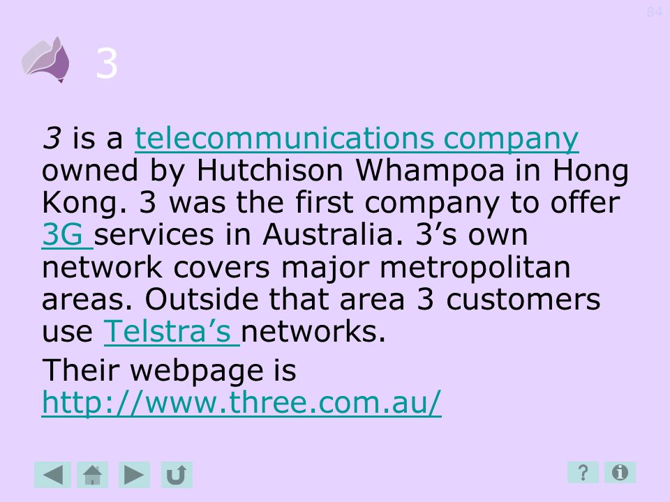83 3G 3G is the third generation of mobile phone. Most mobile phones sold in Australia are now 3G.mobile phone 3G phones can send text and multimedia