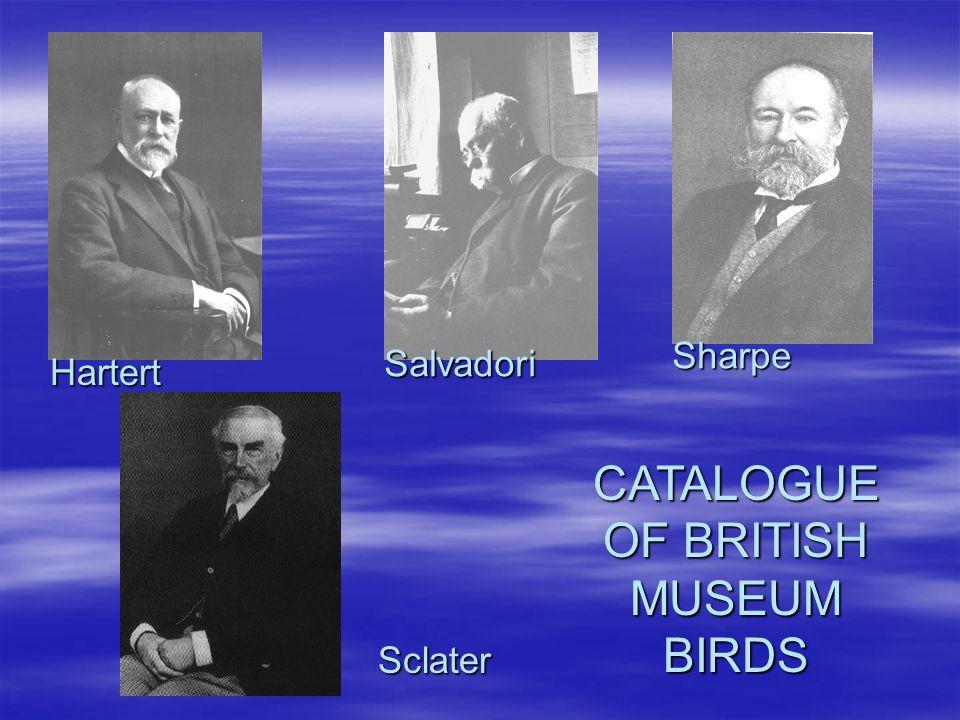 CATALOGUE OF BRITISH MUSEUM BIRDS Hartert Salvadori Sharpe Sclater