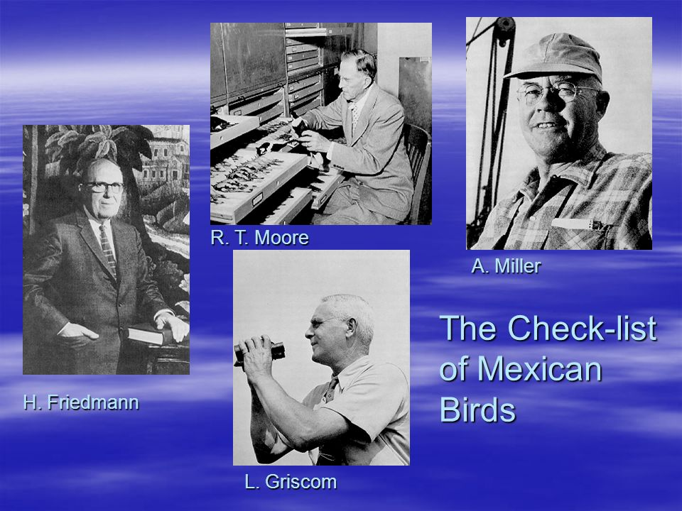 The Check-list of Mexican Birds L. Griscom H. Friedmann R. T. Moore A. Miller