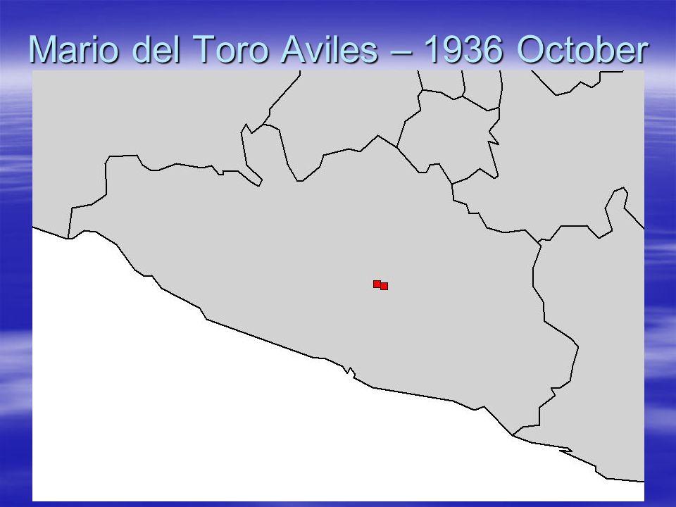Mario del Toro Aviles – 1936 October