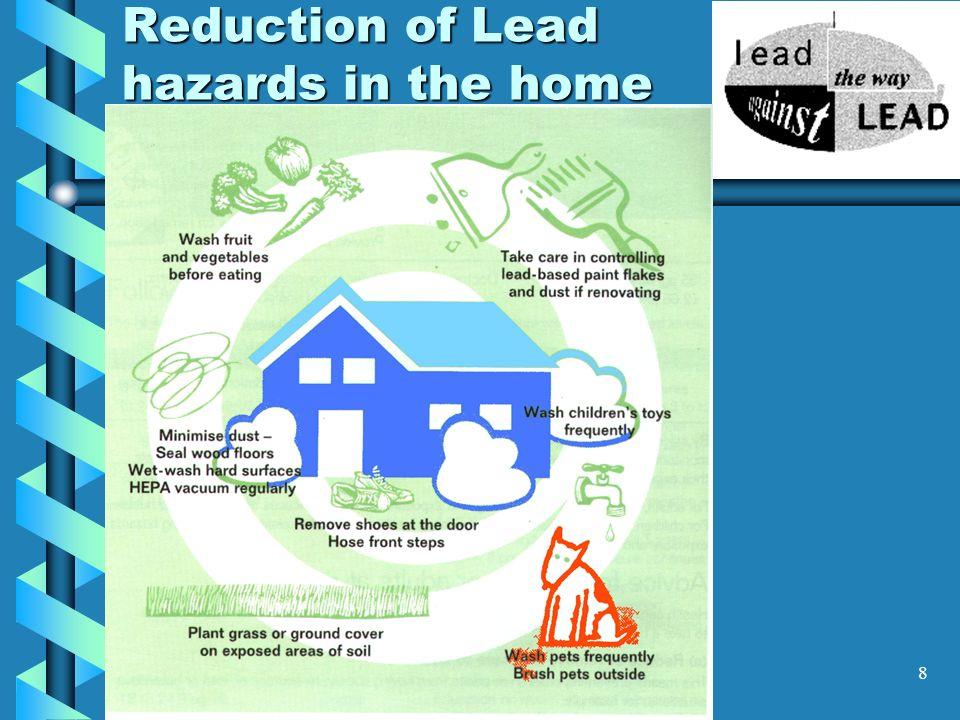 9 Distribution of Lead 95% long bones.95% long bones.