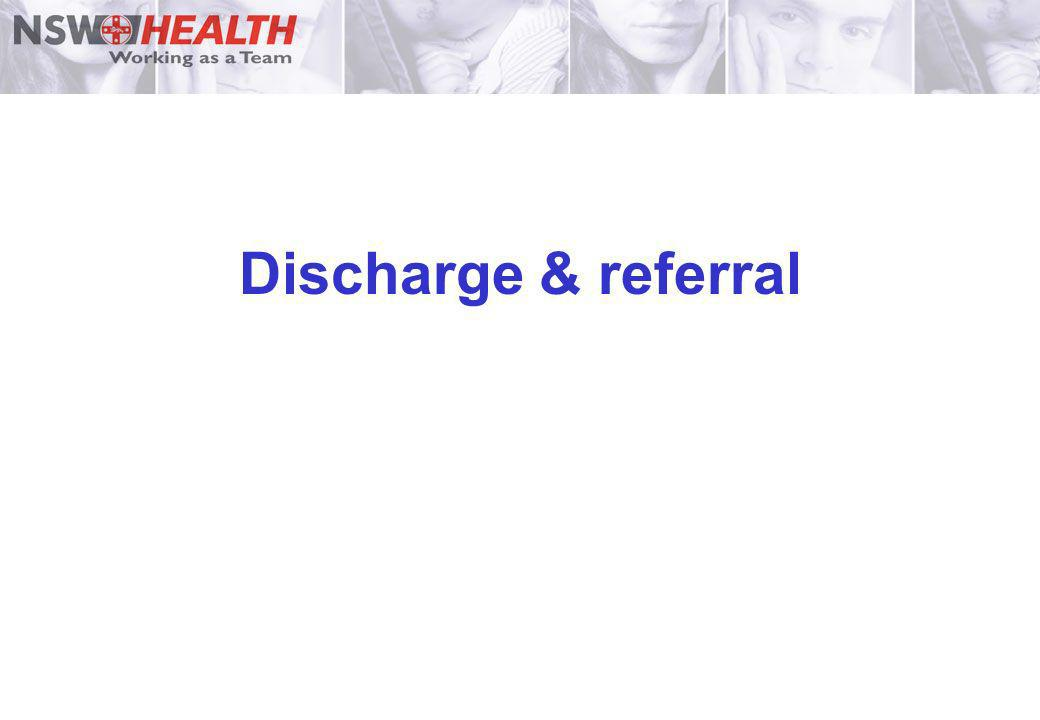 Discharge & referral