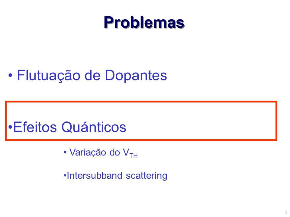 1 Flutuação de Dopantes Efeitos Quánticos Problemas Variação do V TH Intersubband scattering