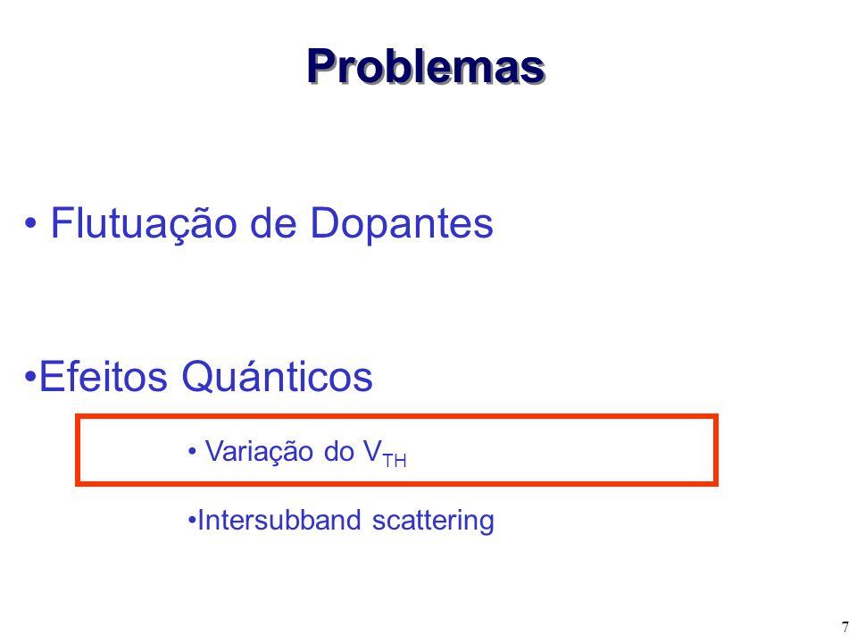 7 Flutuação de Dopantes Efeitos Quánticos Problemas Variação do V TH Intersubband scattering