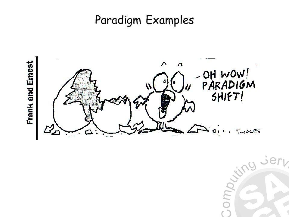 Paradigm Examples