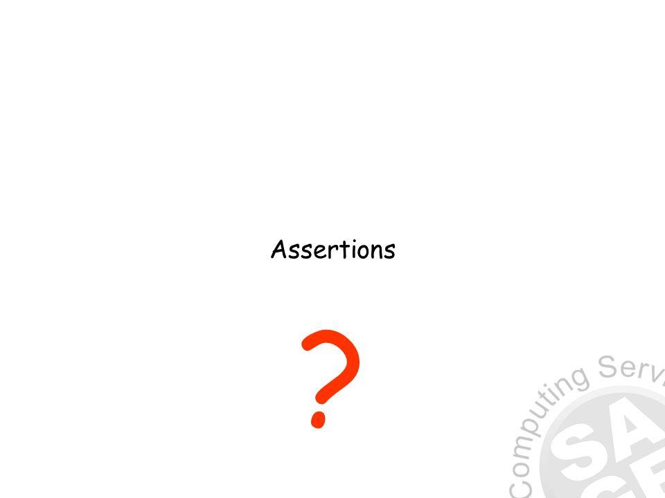 Assertions ?