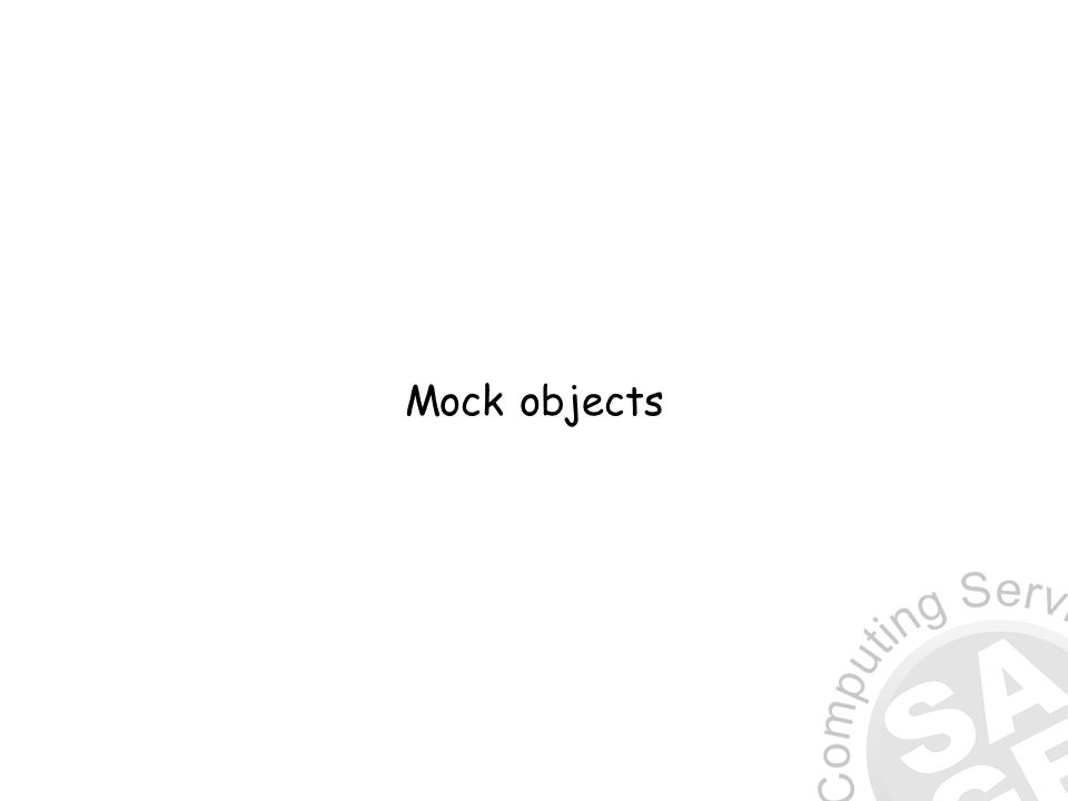 Mock objects