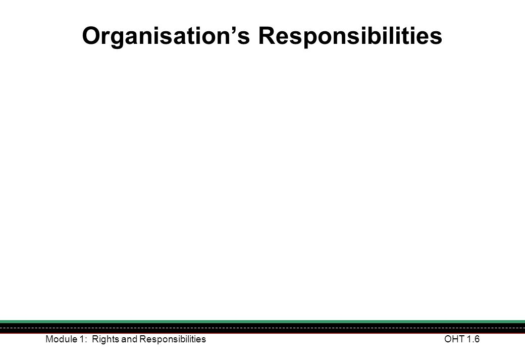 Module 1: Rights and ResponsibilitiesOHT 1.37 Our Incident Reporting Procedure