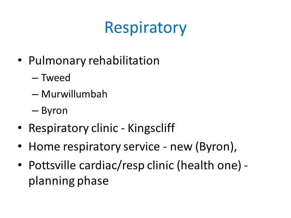 Respiratory Pulmonary rehabilitation – Tweed – Murwillumbah – Byron Respiratory clinic - Kingscliff Home respiratory service - new (Byron), Pottsville