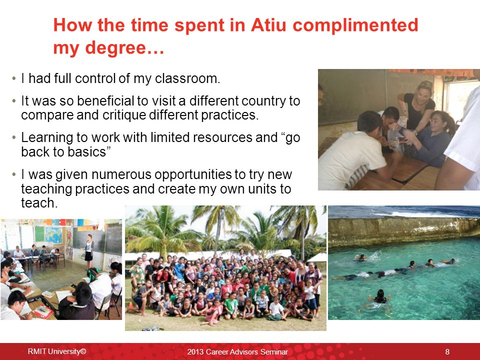 How the time spent in Atiu complimented my degree… I had full control of my classroom.