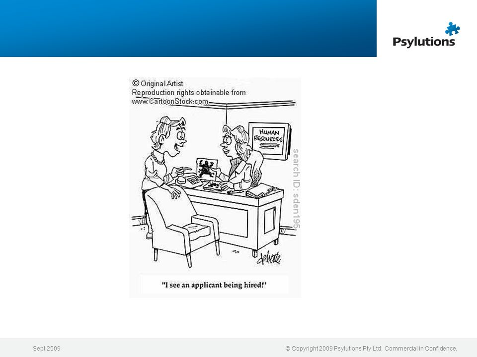 Sept 2009© Copyright 2009 Psylutions Pty Ltd. Commercial in Confidence.