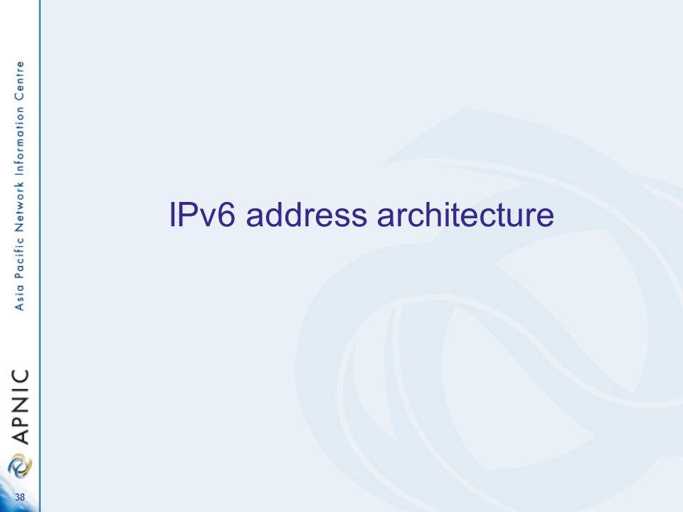 38 IPv6 address architecture