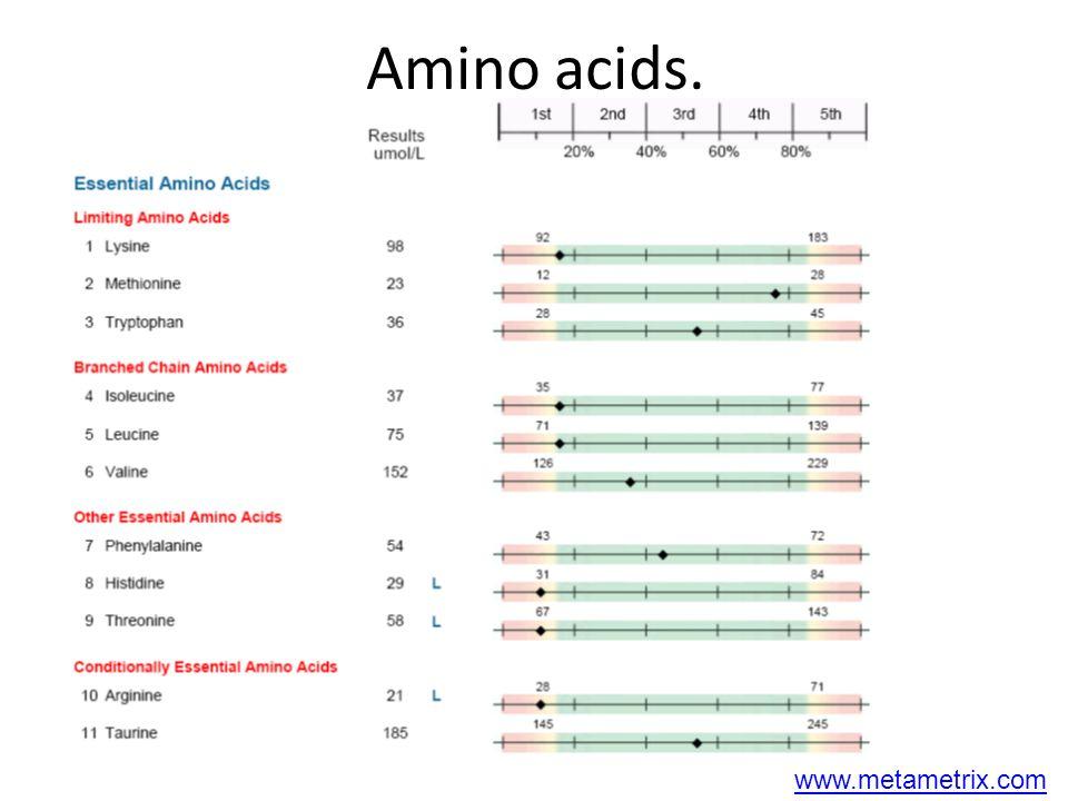 Amino acids. www.metametrix.com