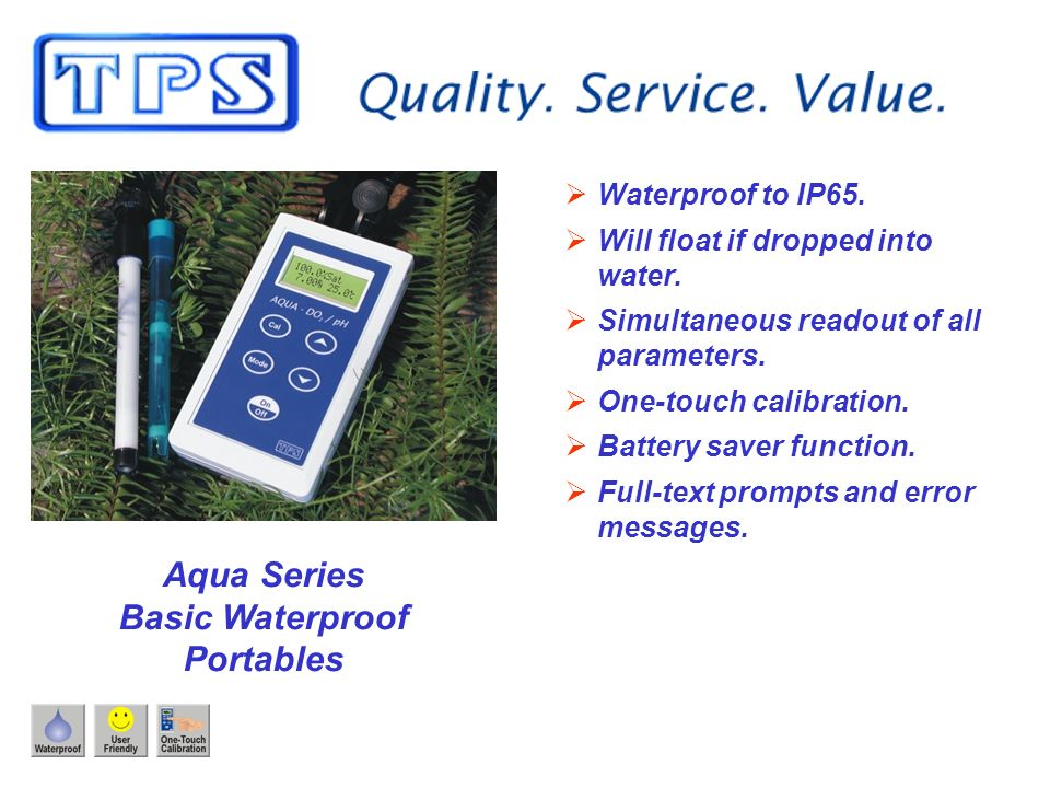 Aqua Series Basic Waterproof Portables Waterproof to IP65.