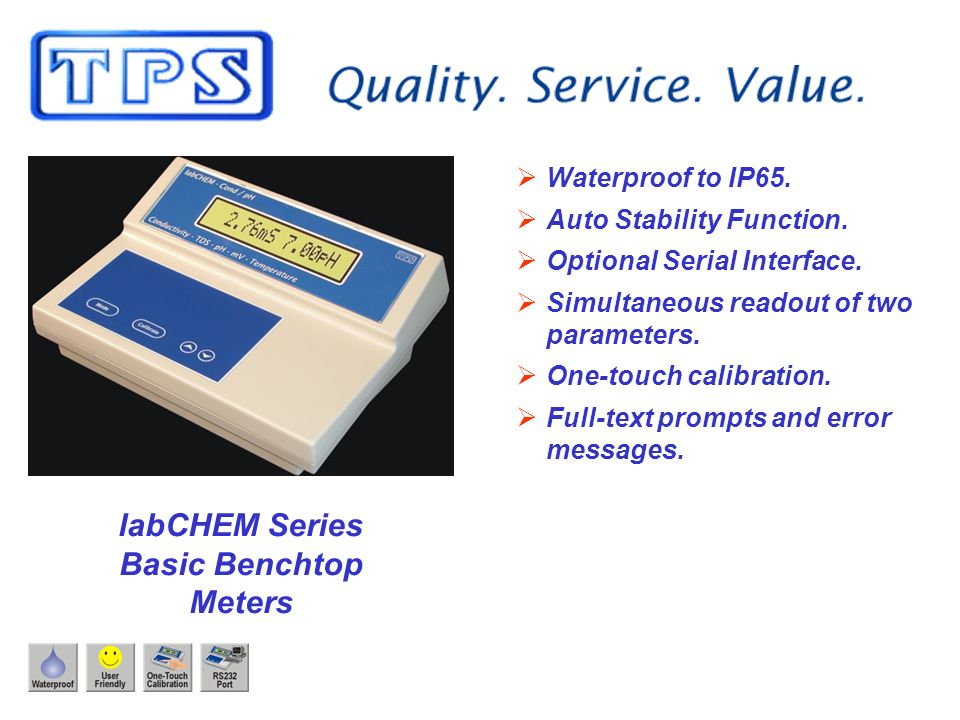 labCHEM Series Basic Benchtop Meters Waterproof to IP65.