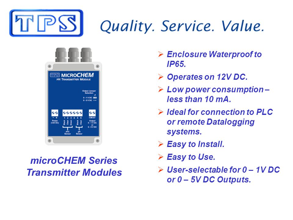 microCHEM Series Transmitter Modules Enclosure Waterproof to IP65.