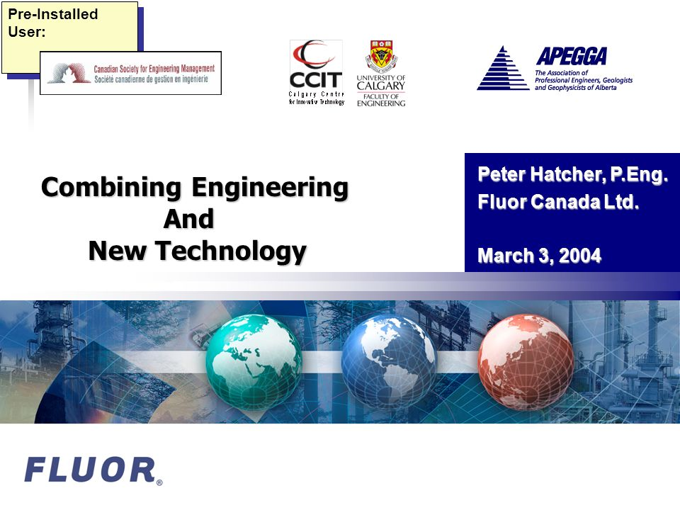 2 Engineering & New Technology u Opportunity Unbounded u Conventional Wisdom