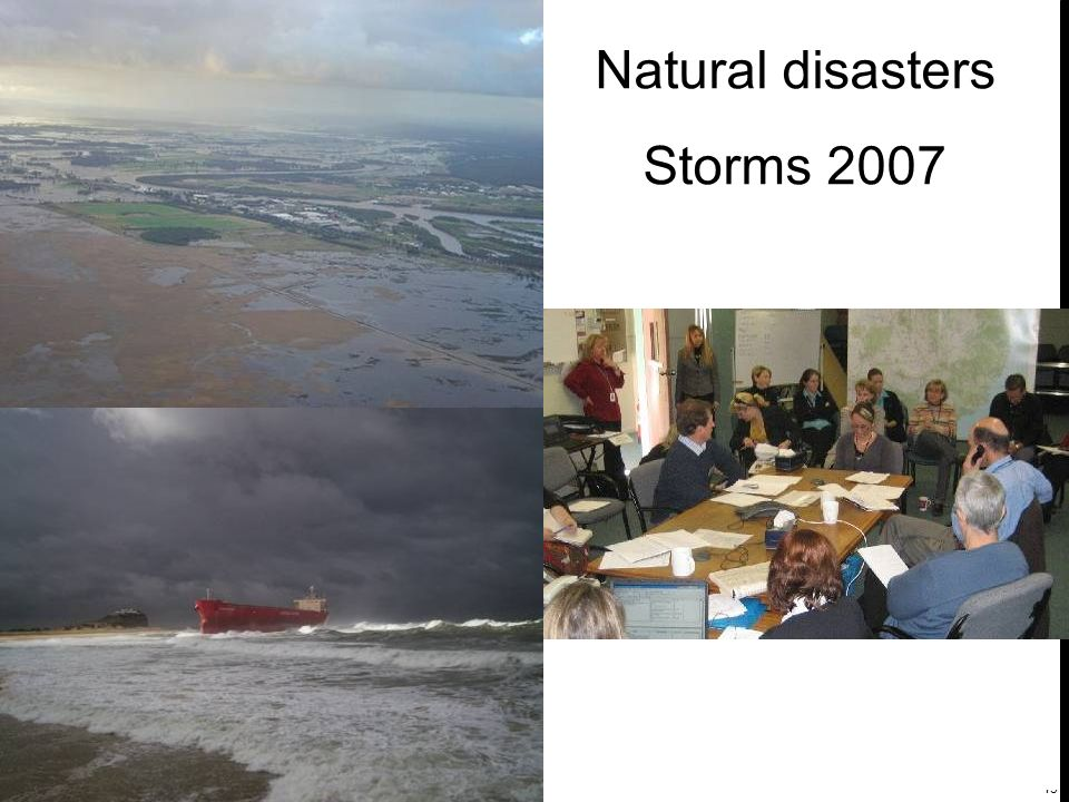 13 Natural disasters Storms 2007