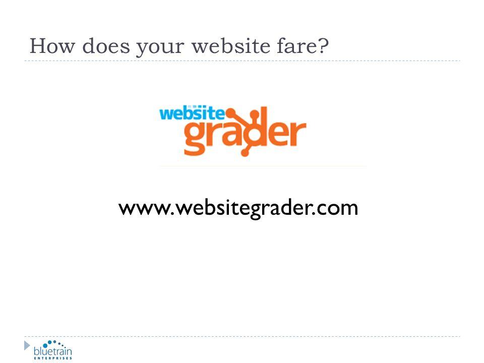 How does your website fare? www.websitegrader.com