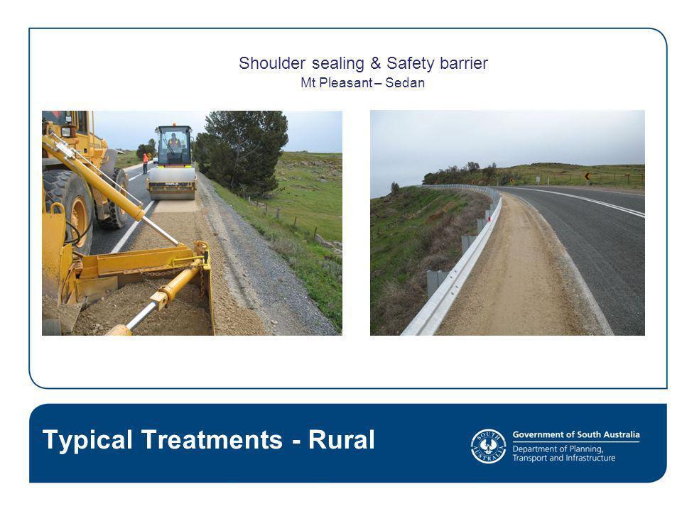 Shoulder sealing & Safety barrier Mt Pleasant – Sedan Typical Treatments - Rural