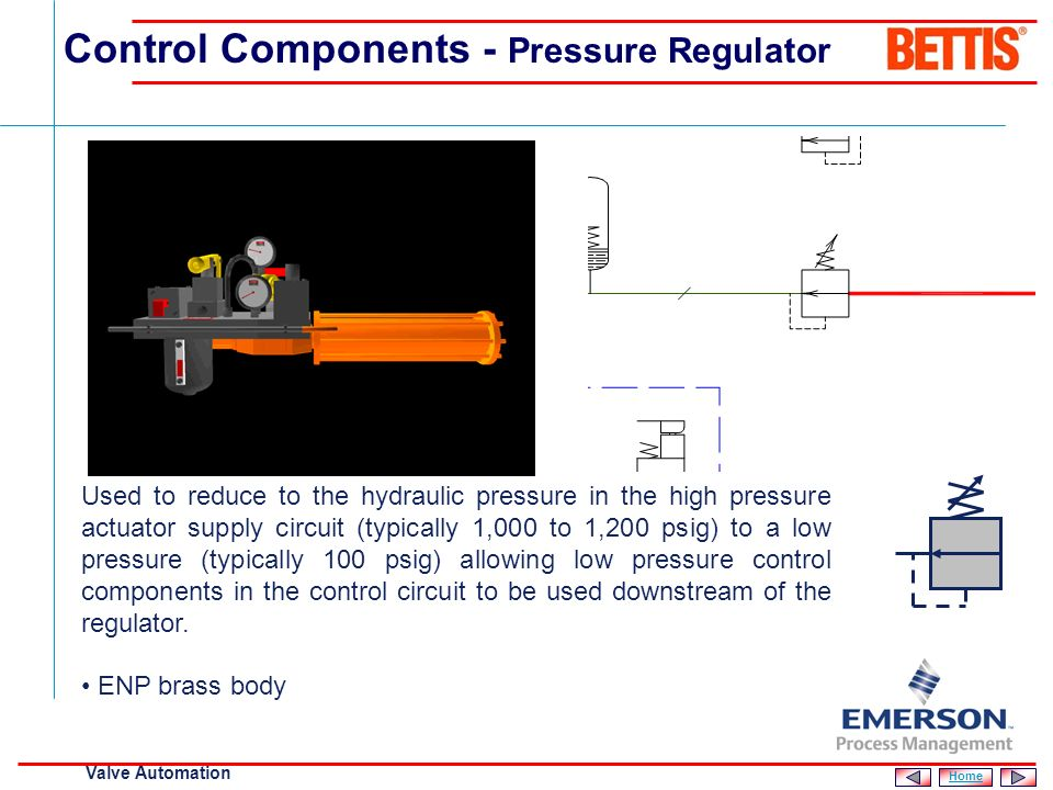 [File Name or Event] Emerson Confidential 27-Jun-01, Slide 10 Valve Automation Monitors the hydraulic pressure in the high pressure line which also in
