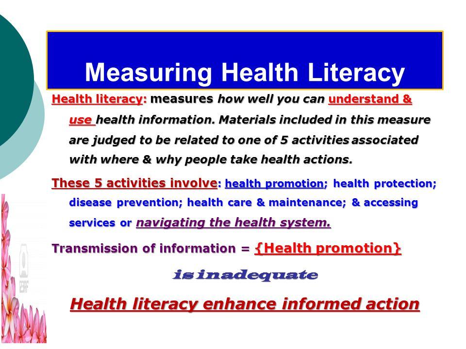 Health Literacy & education Health literacy Health literacy is not only about education. While reading, writing, & math skills make up part of the bas