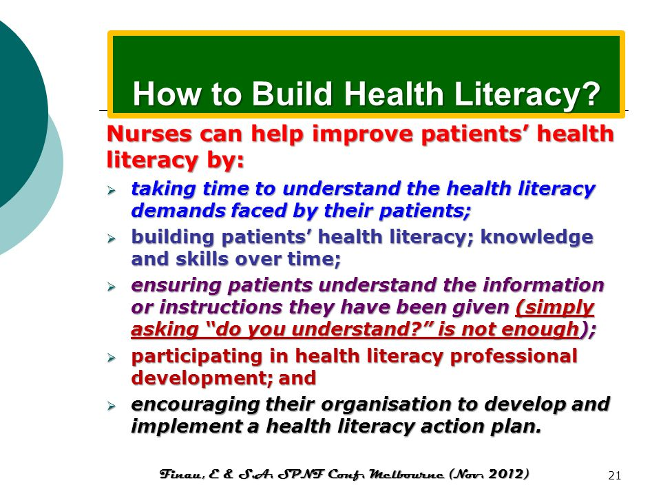 Health literacy and preschool health programs. Assessments of early interventions show short term benefits for the child: enhanced achievement, improv
