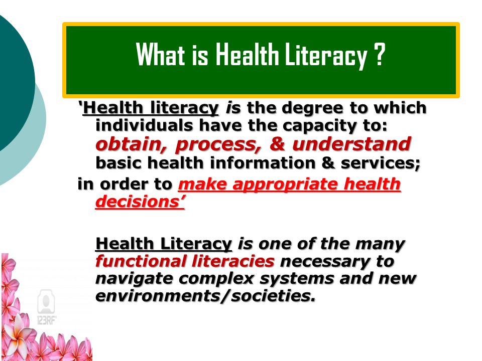 What is Literacy ? Literacy involves a continuum of learning, enabling individuals to: achieve their goals; achieve their goals; Develop their knowled