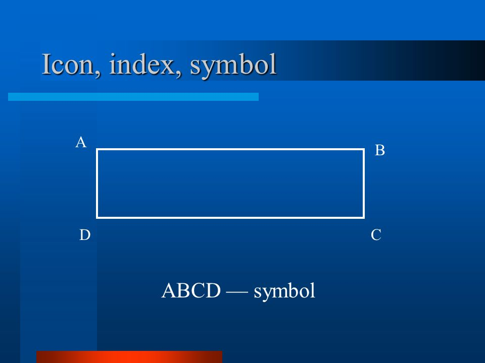 Icon, index, symbol A DC B ABCD symbol