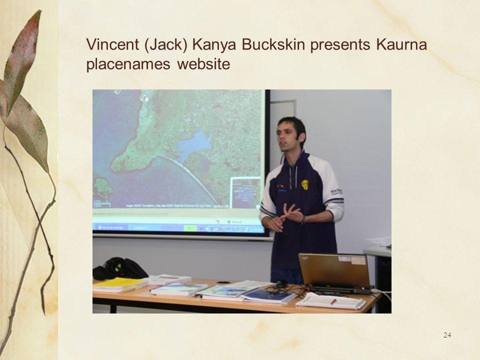24 Vincent (Jack) Kanya Buckskin presents Kaurna placenames website