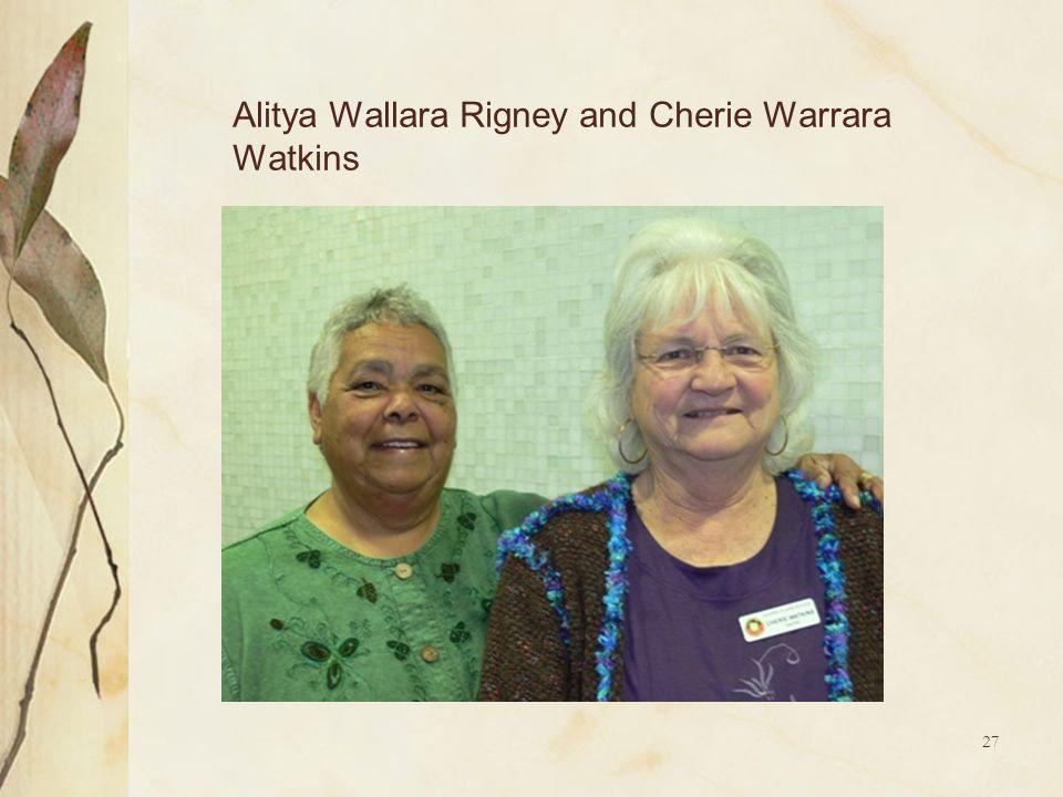 27 Alitya Wallara Rigney and Cherie Warrara Watkins