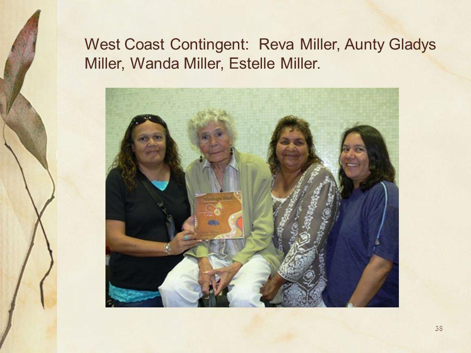 38 West Coast Contingent: Reva Miller, Aunty Gladys Miller, Wanda Miller, Estelle Miller.