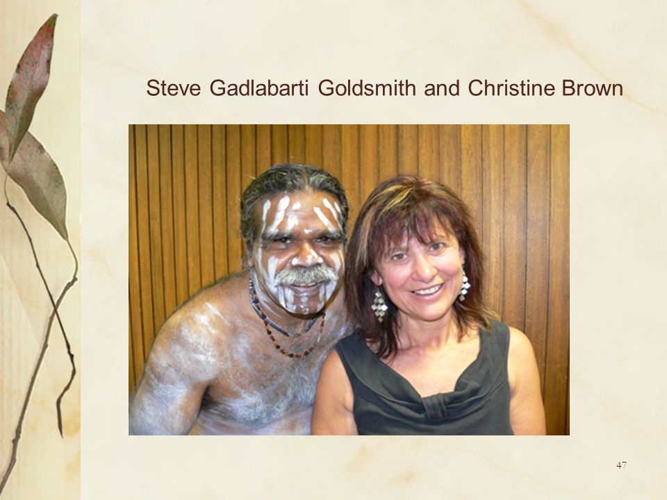 47 Steve Gadlabarti Goldsmith and Christine Brown