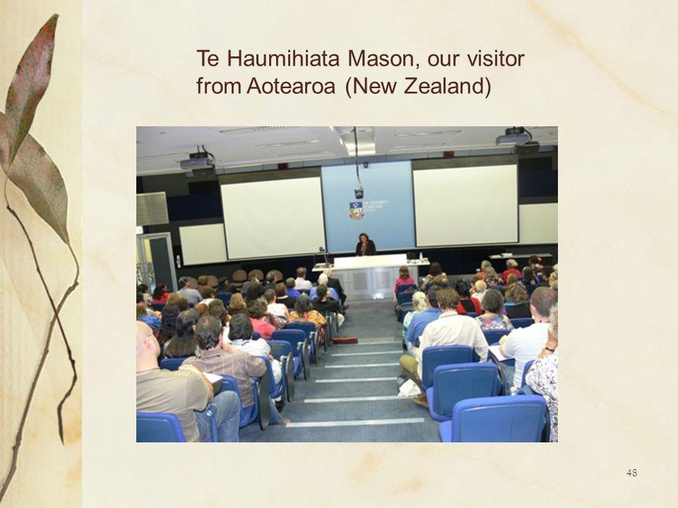 48 Te Haumihiata Mason, our visitor from Aotearoa (New Zealand)