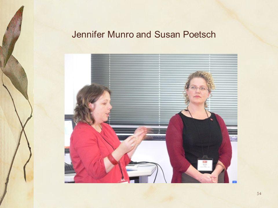 54 Jennifer Munro and Susan Poetsch