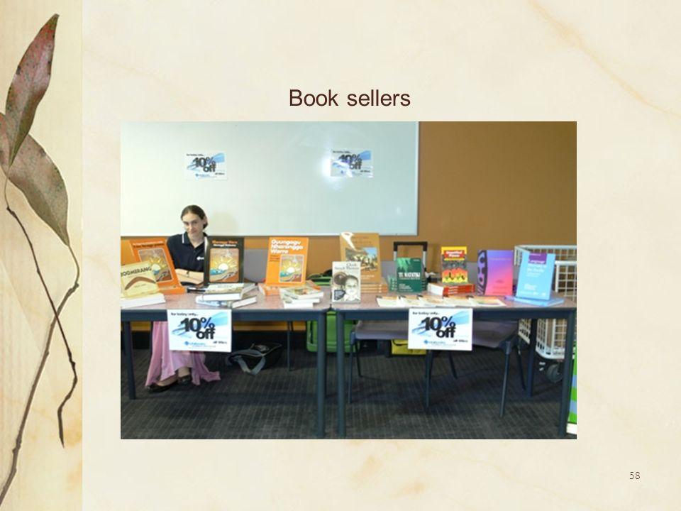 58 Book sellers