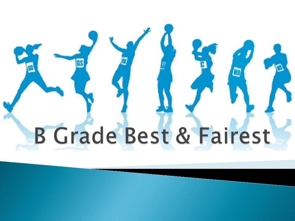 Farrer Football Netball League B Grade Best & Fairest Round 14 Charles Sturt University 30 d Marrar 26 3 Votes: Rebecca OKeefe (CSU) 2 Votes: Megan Short (Marrar) 1 Vote: Amanda Credlin (CSU) AFL Riverina Netball