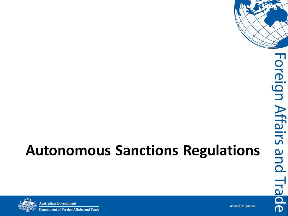Autonomous Sanctions Regulations
