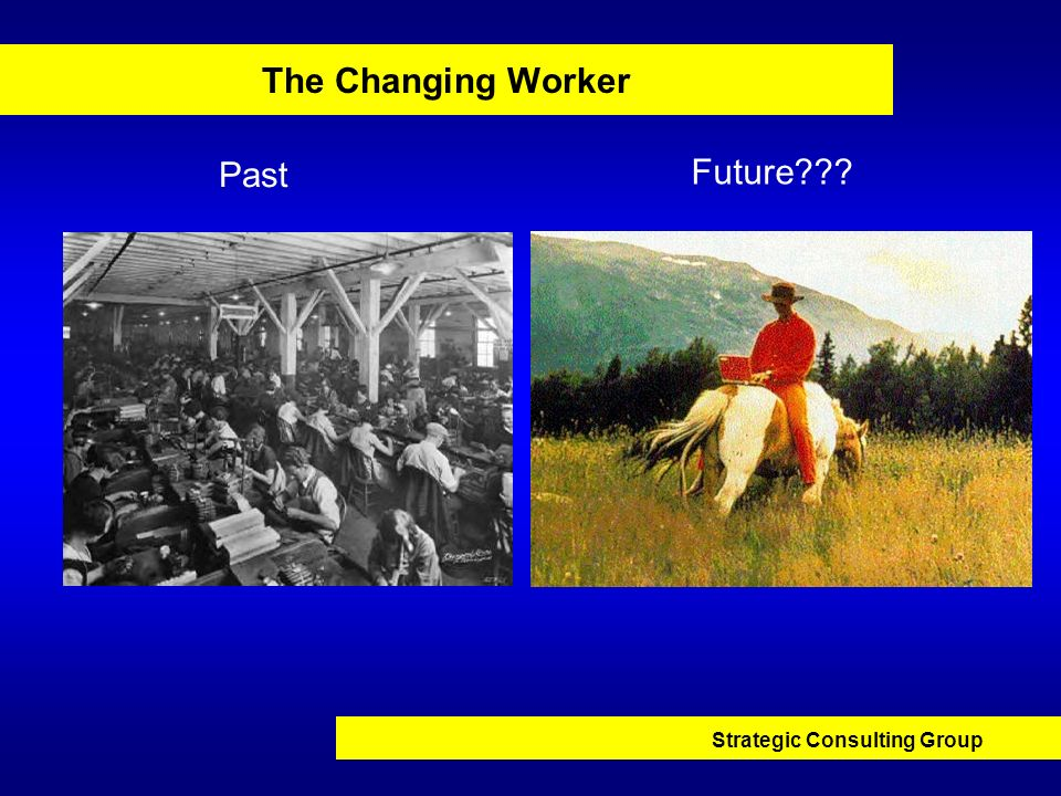 Strategic Consulting Group The Changing Worker Past Future???
