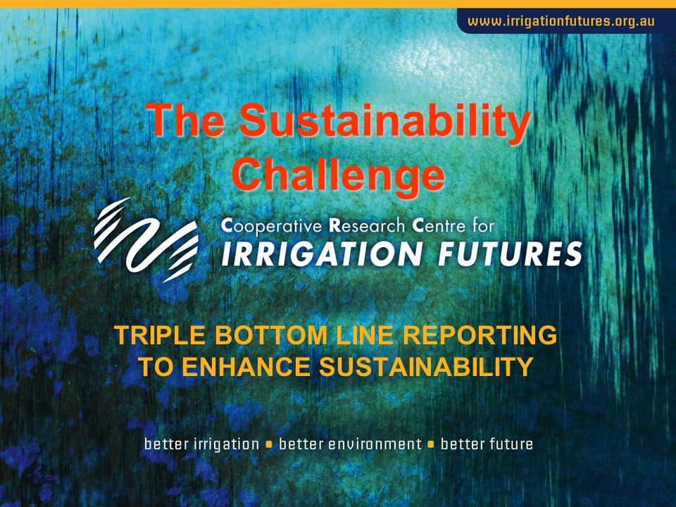 TRIPLE BOTTOM LINE REPORTING TO ENHANCE SUSTAINABILITY The Sustainability Challenge