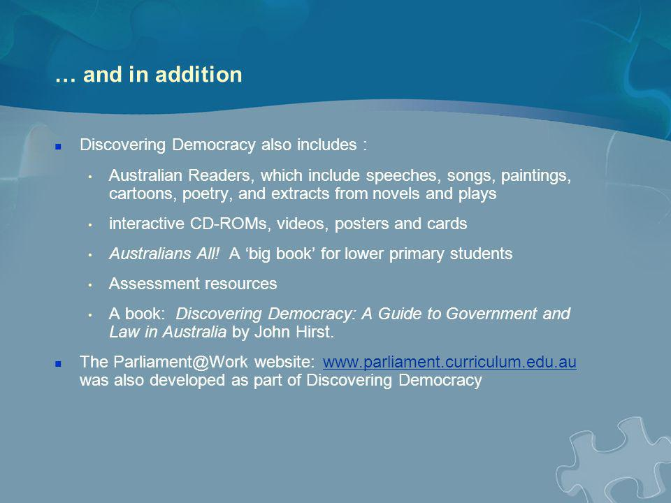 CCE is a priority in Australia and internationally An Australian Government report, Citizenship and Democracy: Students Knowledge and Beliefs, found that 91 per cent of teachers believed that civic education matters a great deal for Australia Source: Mellor, Kennedy & Greenwood, DETYA, 2001, p.