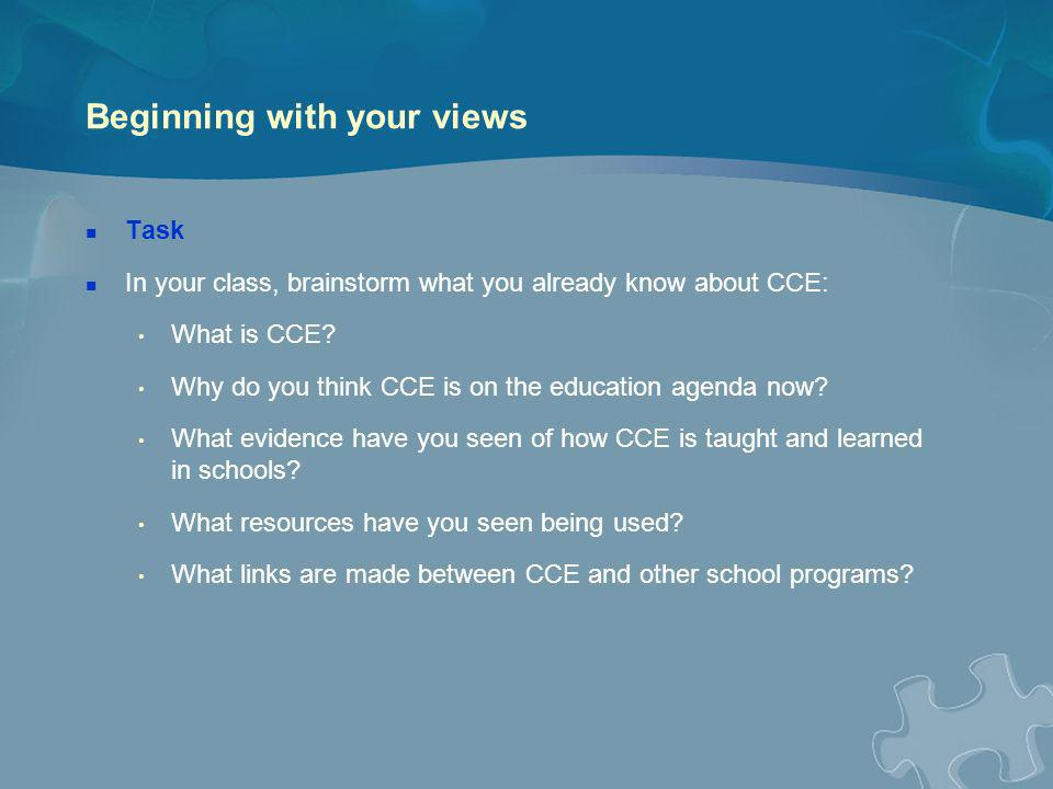 CCE 1997–2009a brief overview of the context The Discovering Democracy program provided resources and professional development for teachers (1997–2004) and: … aimed to help prepare young people to become effective and responsible citizens, learn about the operation of the Australian system of government and law, explore what it means to be an Australian today, and learn about Australia s democratic heritage and the values underpinning it, including equality, liberty, fairness, trust, mutual respect and social co-operation.