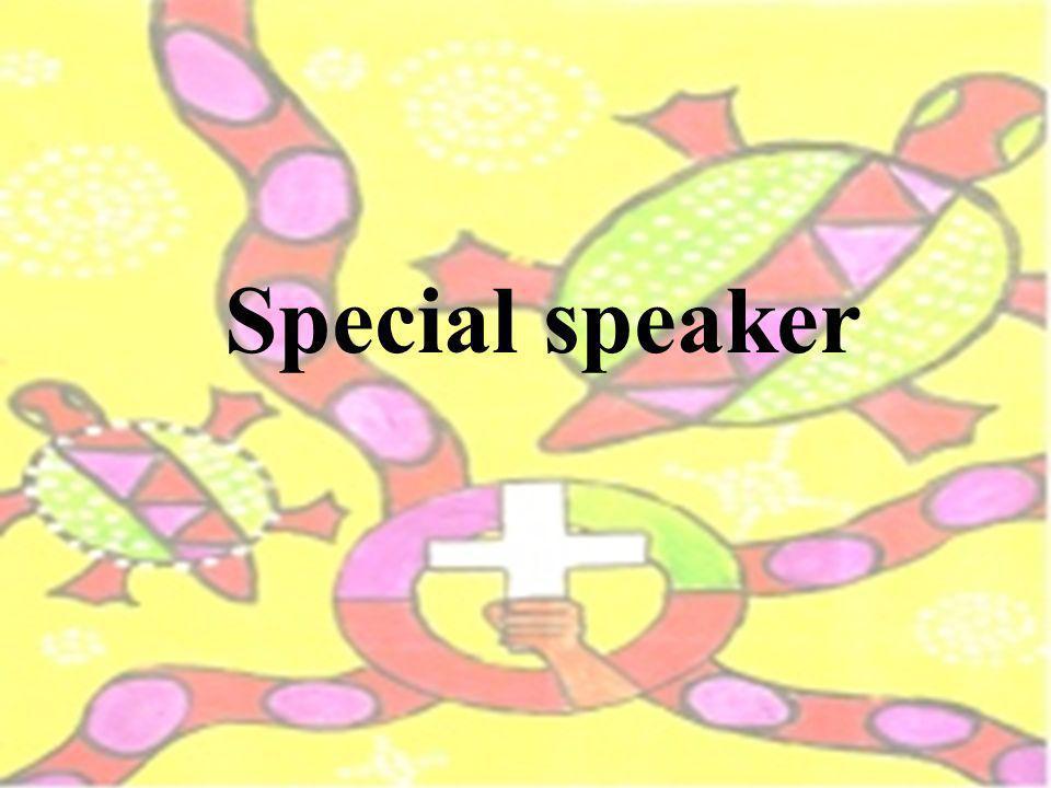 Special speaker
