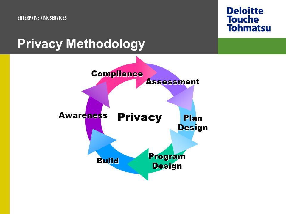 ENTERPRISE RISK SERVICES Privacy Methodology Privacy Compliance Assessment Plan Design Program Design Build Awareness