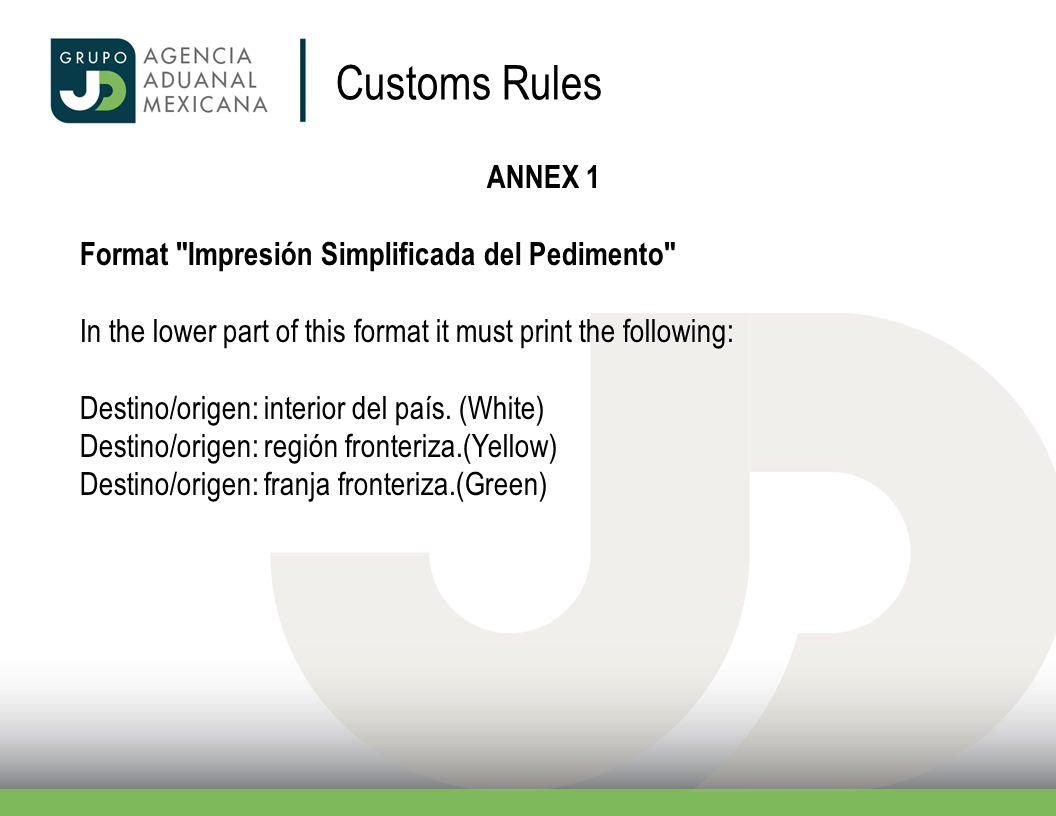 ANNEX 1 Format