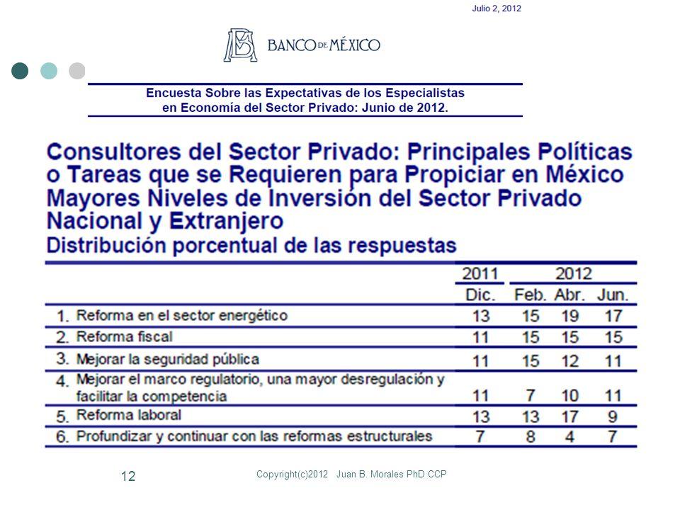 Copyright(c)2012 Juan B. Morales PhD CCP 12