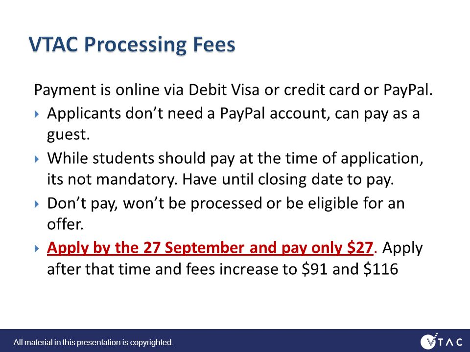 Payment is online via Debit Visa or credit card or PayPal.