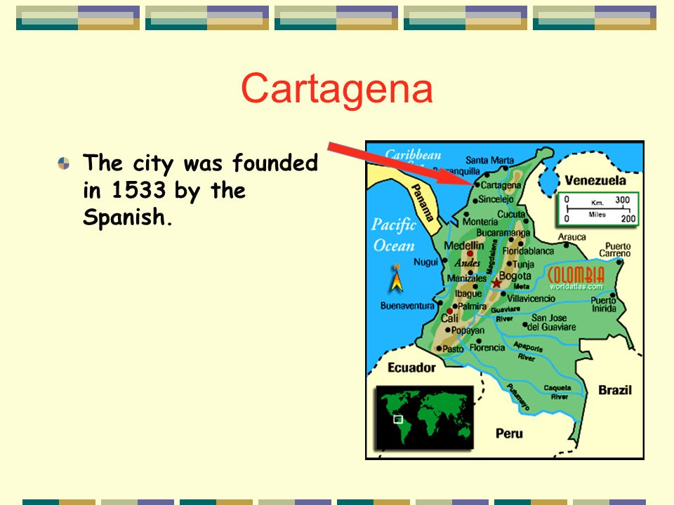 Describe the importance of the city of Cartagena.